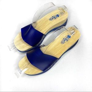 """Soho """"Jelly"""" 90's Block Slide Clog Sandal"""